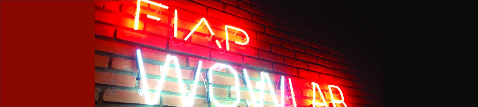 Fiap - letreiro em neon